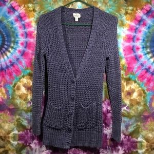 American eagle knitted long cardigan sweater